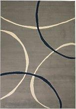 Modern Rug Circle Design 80x150 cm Grey