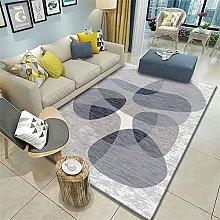 modern rug Grey carpet, geometric pattern washable