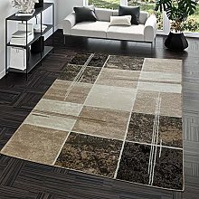 Modern Rug with Check Square Design for the Living