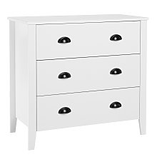 Modern Sideboard Matte Cabinet Chest 3 Drawers