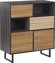 Modern Sideboard Storage Drawers Cabinets Light