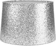 Modern Silver Sparkling Metallic Glitter Dual