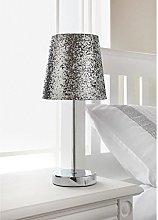 Modern Silver Sparkling Metallic Glitter Shade and