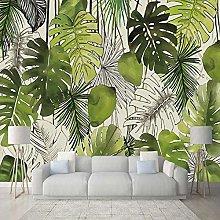 Modern Simple 3D Banana Leaf Mural Wallpaper