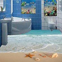 Modern Simple 3D Stereo Beach Sea Wave Starfish