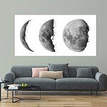 Modern simplicity Moon Phase Wall art Canvas