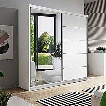 Modern Sliding Door Wardrobe with Built in Mirror