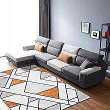 Modern Small Area carpet,Geometric gray brown