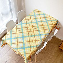 Modern Small Fresh And Simple Plaid Tablecloth