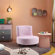 Modern Small Sofa Chair Linen Fabric Padded