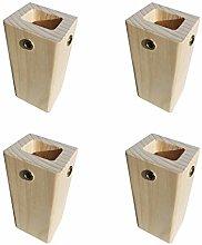 Modern Solid Wood Groove Furniture Legs,Unpainted