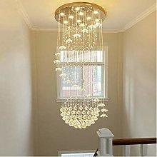 Modern Spiral Ball Crystal Chandelier, Ceiling