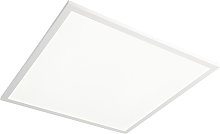 Modern Square Ceiling Lamp White 62cm with Remote