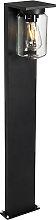 Modern standing outdoor lamp black 90 cm IP54 -
