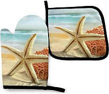 Modern Starfish and Coral On Sandy Beach Landscape
