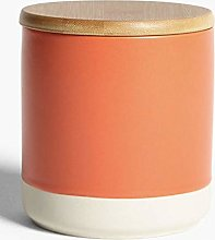 Modern Stoneware Dipped Kitchen Storage Canister -