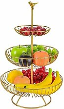 Modern Style Practical Wire Basket, 3 Tier