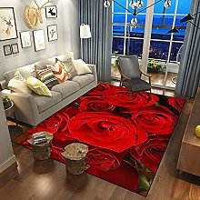 Modern Style Rose Flower Series Carpet Thickened