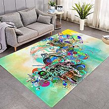 Modern Style Rug Abstract color graffiti Rugs