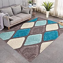 Modern Style Rug Blue and brown geometric Rugs