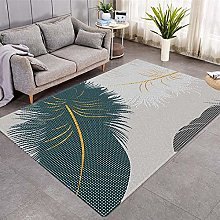 Modern Style Rug Blue and white feathers Rugs