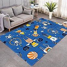 Modern Style Rug Blue cartoon boy Rugs Living Room