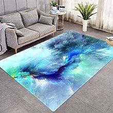 Modern Style Rug Blue clouds Rugs Living Room