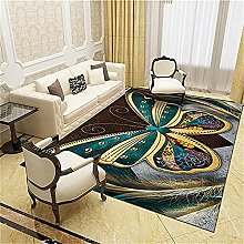 Modern Style Rug Brown and yellow butterfly Rugs