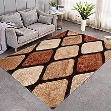 Modern Style Rug Brown geometric Rugs Living Room