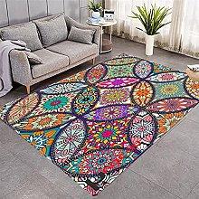 Modern Style Rug Color floral mandala Rugs Living