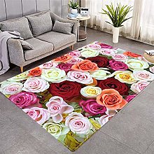 Modern Style Rug Colored roses Rugs Living Room