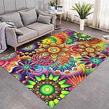 Modern Style Rug Colorful magic mandala Rugs