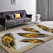 Modern Style Rug Design carpet Black gray yellow