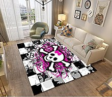 Modern Style Rug Design Rugs Skull with a pink bow