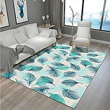 Modern Style Rug Design Rugs Turquoise feathers