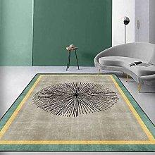 Modern Style Rug Designer Area Carpet Gold frame