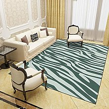 Modern Style Rug Green abstract stripes Rugs