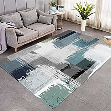 Modern Style Rug Green and gray geometry Rugs