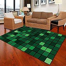 Modern Style Rug Green geometric lattice Rugs
