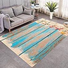 Modern Style Rug Light blue wood grain Rugs Living