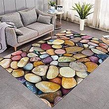 Modern Style Rug Multicolor Zen Stone Rugs Living