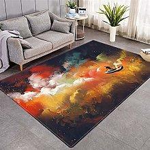 Modern Style Rug Orange clouds Rugs Living Room