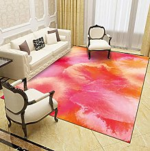 Modern Style Rug Pink abstract petals Rugs Living
