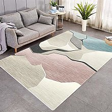 Modern Style Rug Pink and gray geometry Rugs