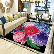 Modern Style Rug Pink orchid and purple