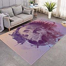 Modern Style Rug Pink skull Rugs Living Room