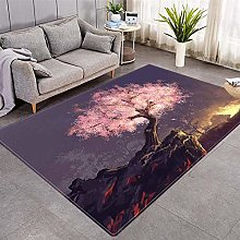 Modern Style Rug Pink welcome pine Rugs Living