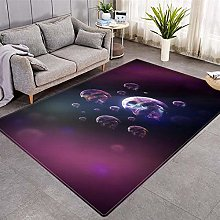 Modern Style Rug Purple abstract skull Rugs Living