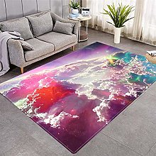 Modern Style Rug Red clouds Rugs Living Room