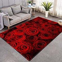 Modern Style Rug Red rose Rugs Living Room